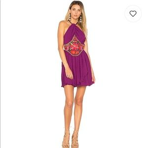Free People Marcella Mini Dress In Dark Purple